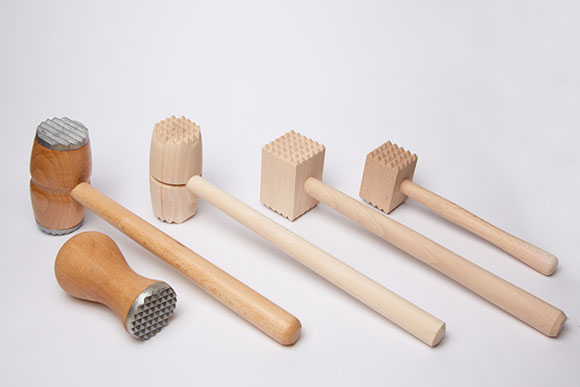 hammers, pestles, crutches