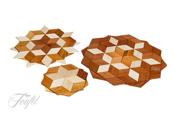 podstawki drewniane